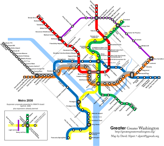 DC Metro Map with New Silver Line city-data.com