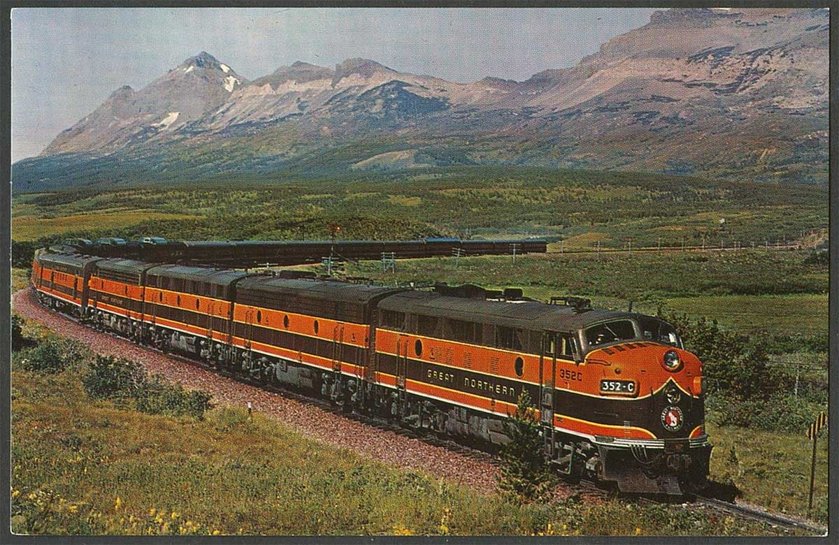 Great Northern Railroad on kato passenger cars