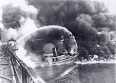 Cuyahoga River (Ohio) on Fire - One of Many Times Between the 1930 and 1960s. oceanservice.noaa.gov