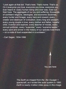 The Pale Blue Dot Quote and Picture. Amazing.