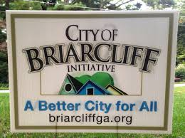 Sign Promoting City-hood for Briarcliff briarcliffga.org
