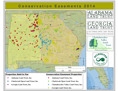 Conservation Easements Held by the Georgia-Alabama Land Trust, 2014 galandtrust.org